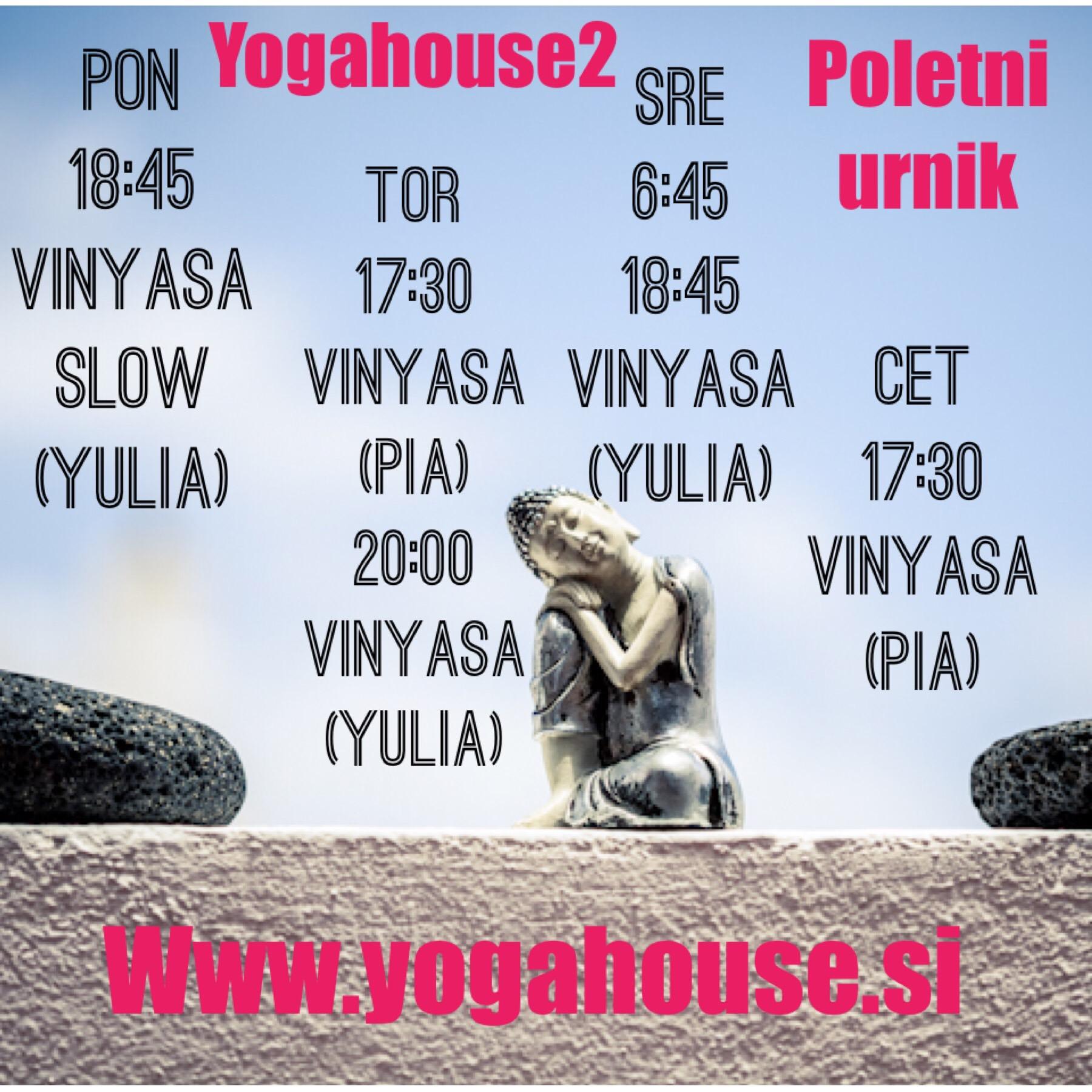 Shakti Yogahouse joga urnik poletje 2019